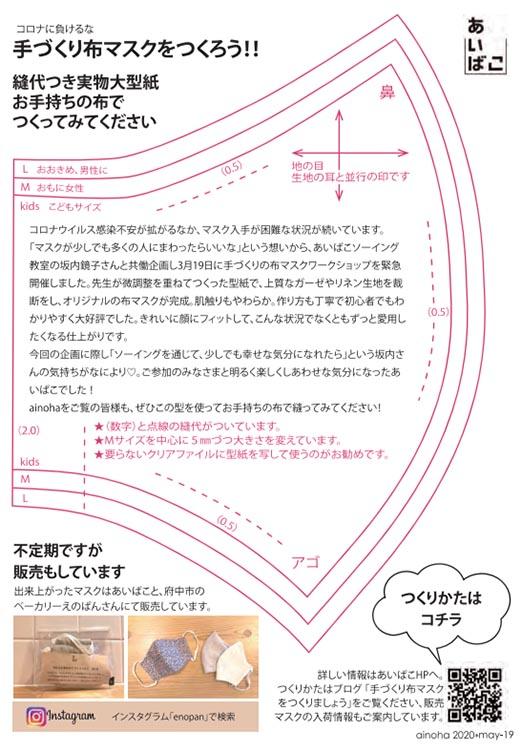 ainohaに掲載された型紙です