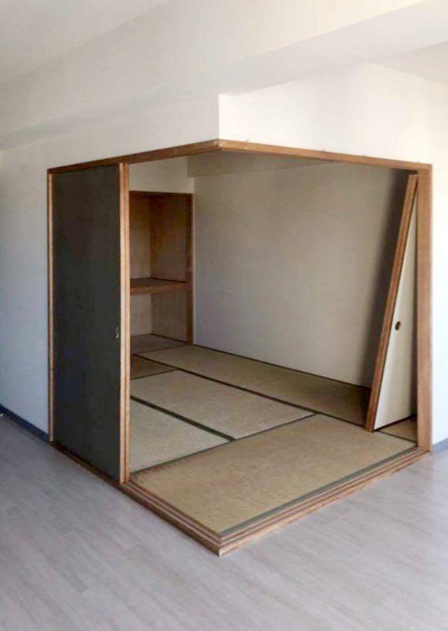 施工前はフラットな畳スペースでした
