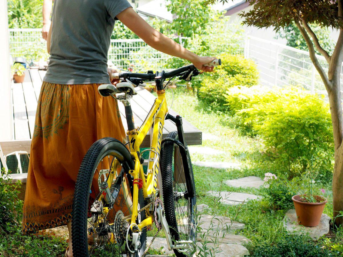 地下室から自転車を持って、すぐ外へ出ることができます