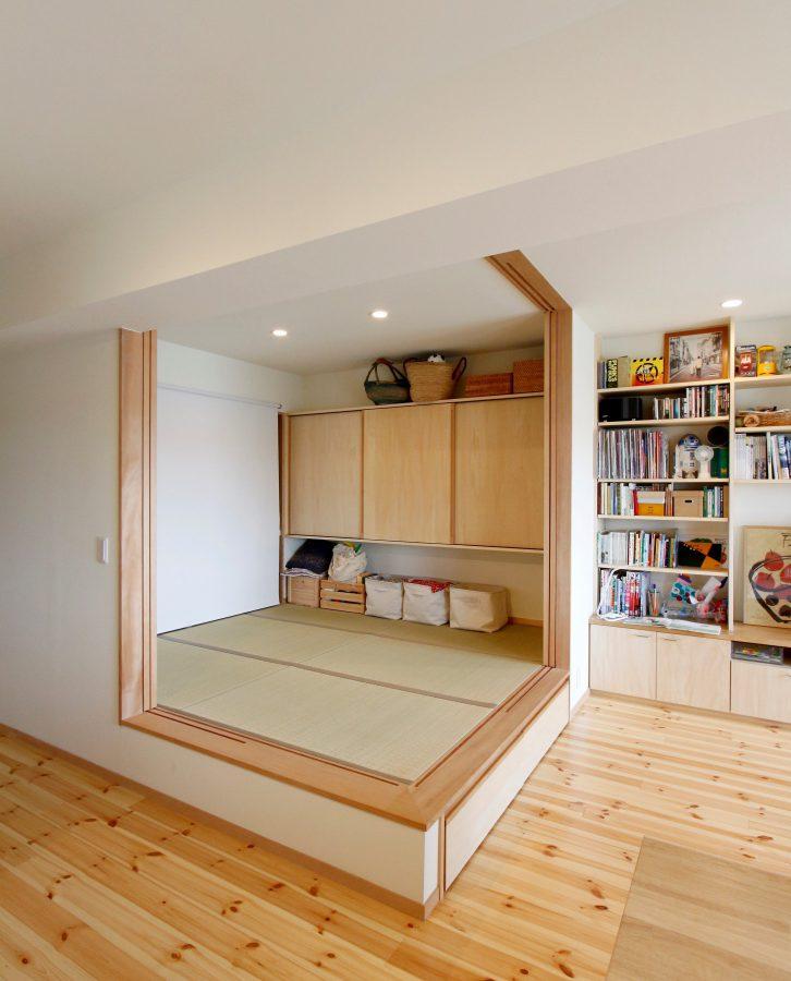 和室を1.5畳削ってリビングを広く