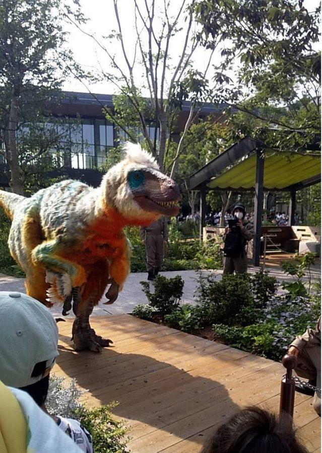 恐竜出現!!