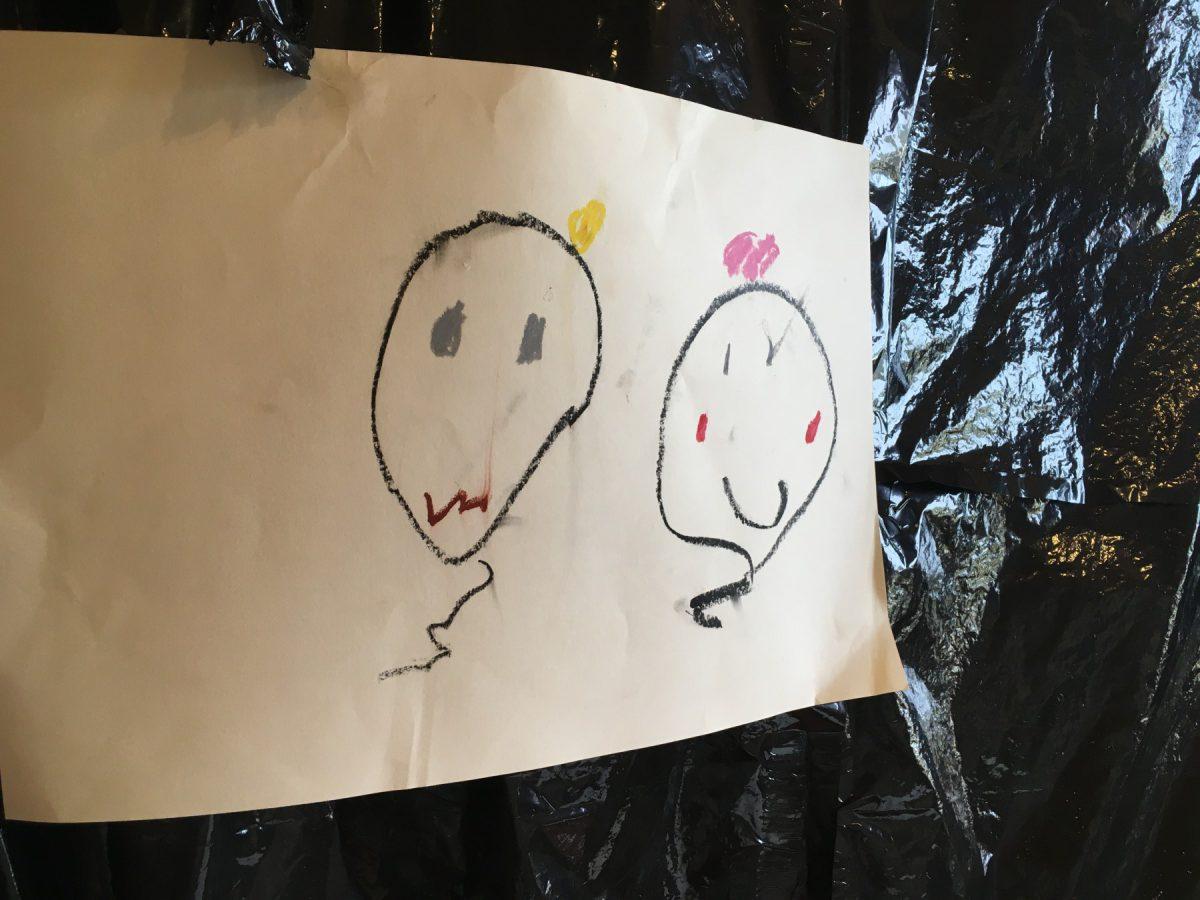 このお化けの絵が可愛すぎて…描いた子のお顔がみたい!