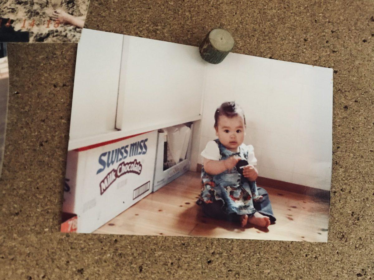10年前はキッチン片隅にちょこんと座れるくらい小さかった娘