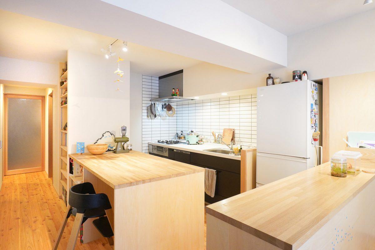 施工例:リビングが暮らしの中心のマンションリノベ