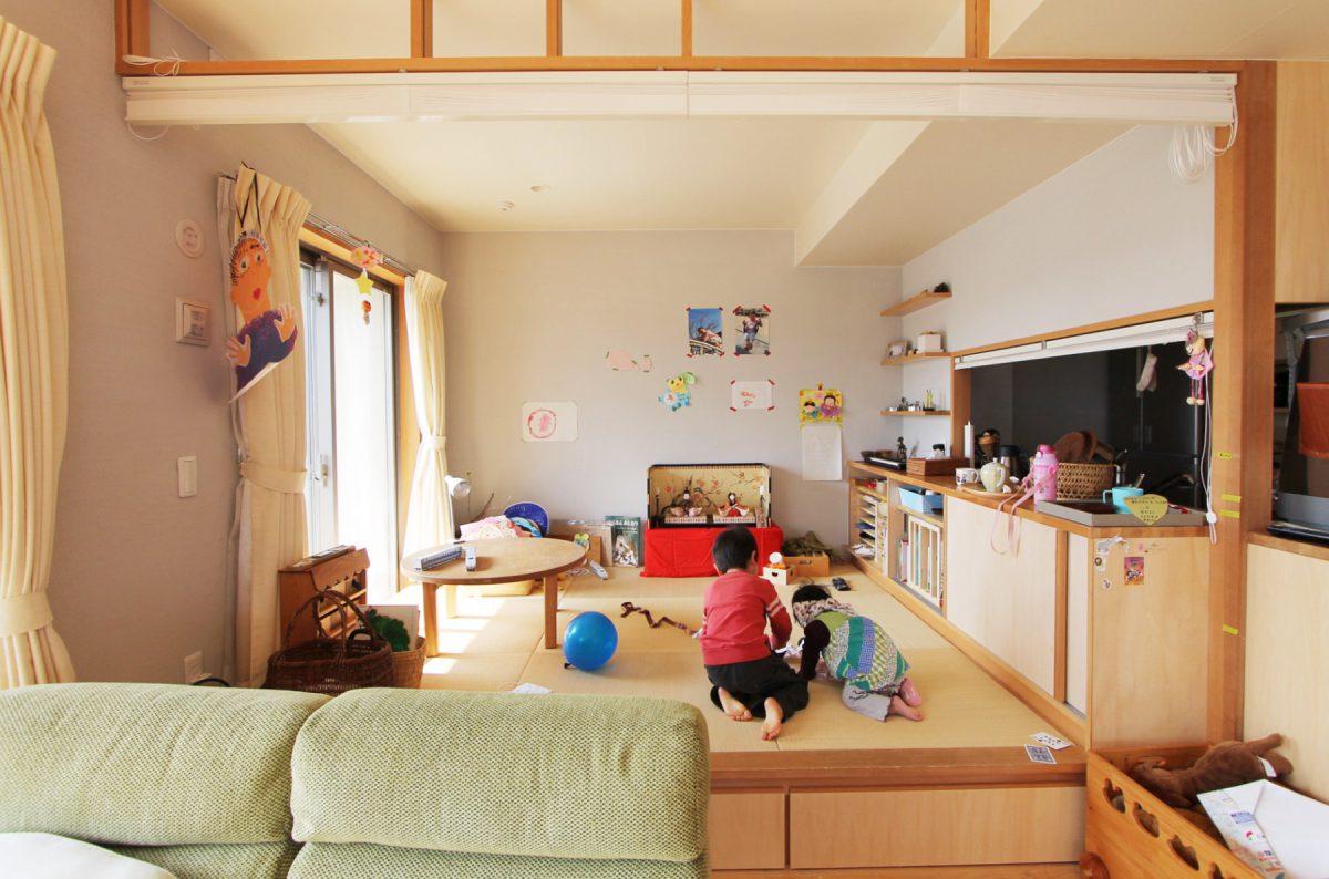 小上がり畳で楽しむ開放的な暮らし