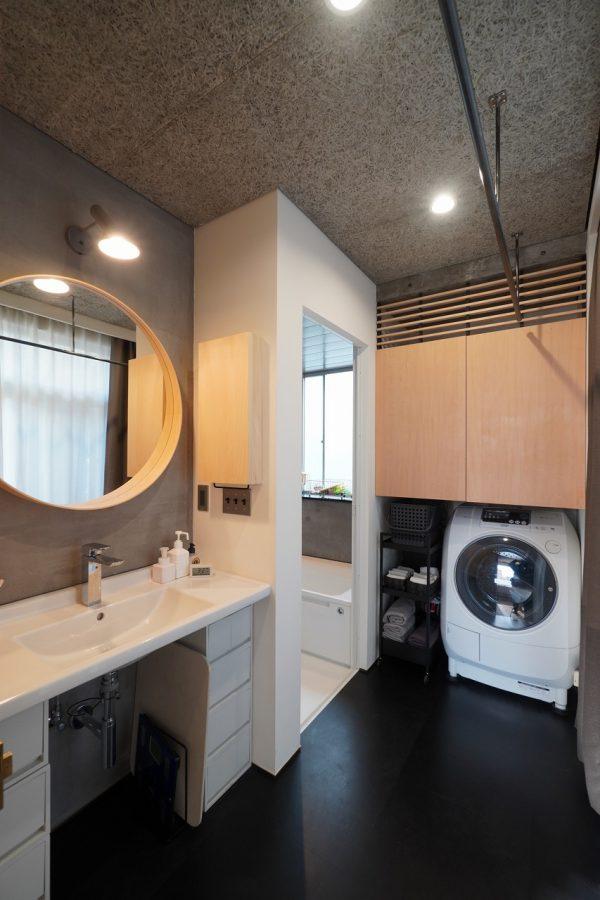 洗面脱衣室もおみごとです