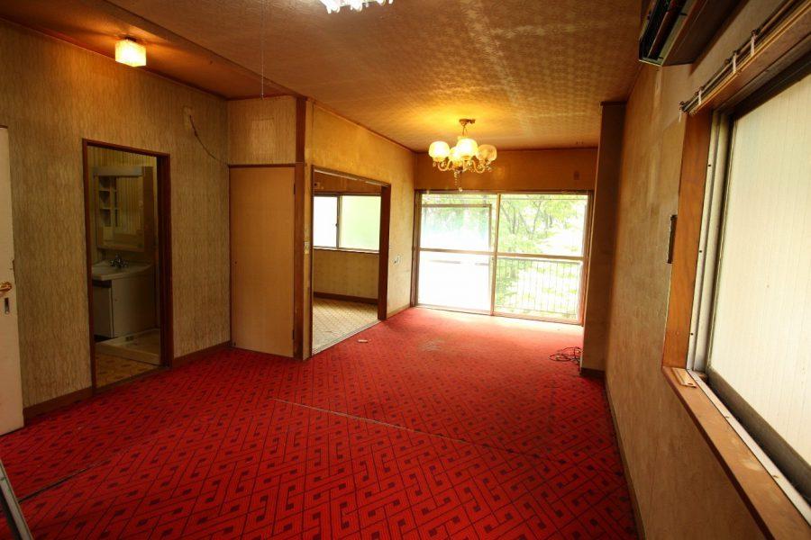 2階before 左奥はキッチンでしたがここを浴室へ変更