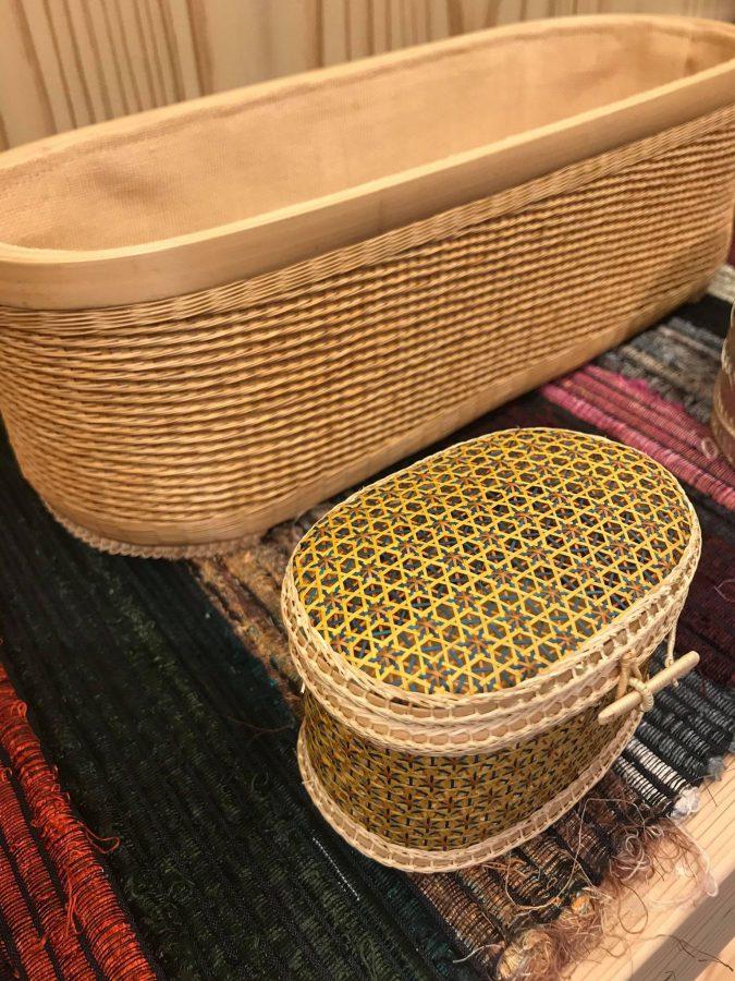 竹を細く割いても要が編まれています